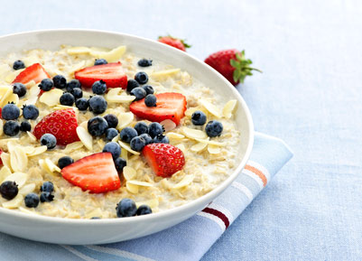 Suppress appetite with oatmeal